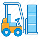 electric forklift, forklift, forklift operator, forklift truck, lifted truck, material handling, pallet truck icon