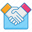 business partner, handshake, handshaking, partner, partnership, shake hands, shaking hands icon