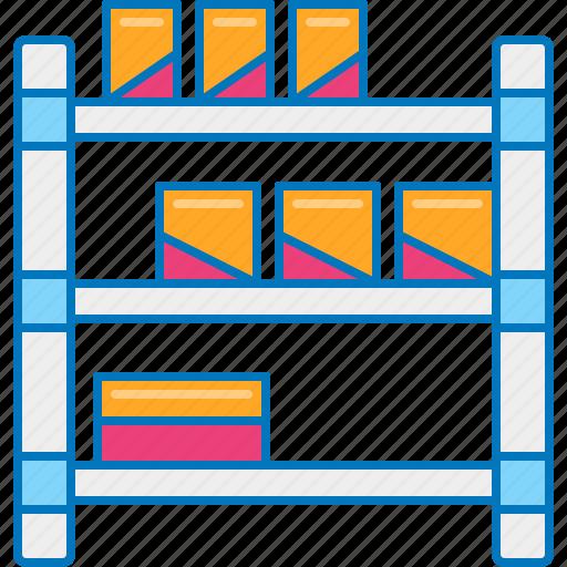 shelf, shelf capacity, storage, warehouse storage icon