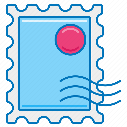 mail, mailing, post, postage, postage stamp, stamp, stamped icon