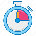 countdown, stopwatch, time, time tracking, timer icon