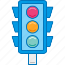 light, road sign, signal, traffic, traffic light icon
