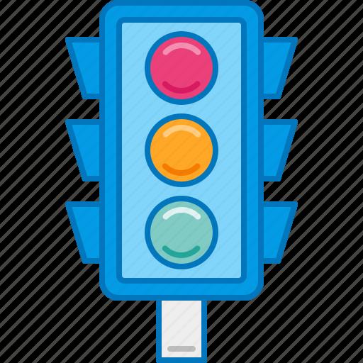light, road sign, signal, traffic, traffic light icon