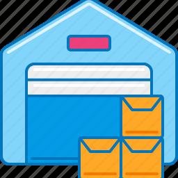 distribution, distribution center, logistic company, logistics, supply chain, warehouse, warehouse management icon