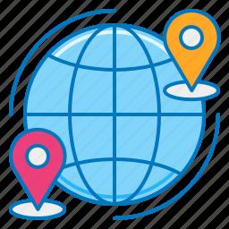 free international shipping, global shipping, international freight service, international shipping, shipping worldwide, worldwide delivery, worldwide shipping icon