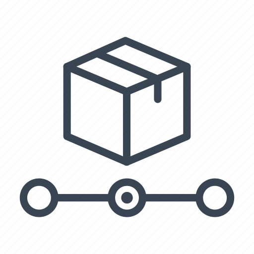 box, delivery, package, shipping, tracking icon