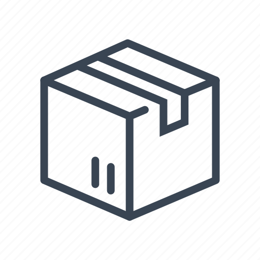 box, cardboard, logistics, package, shipping icon