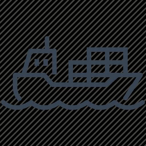 cargo, freighter, logistics, ship, shipping icon