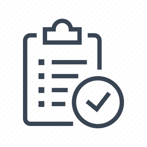 check, checklist, delivery, list, logistics icon