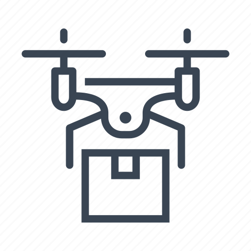 box, delivery, drone, package icon