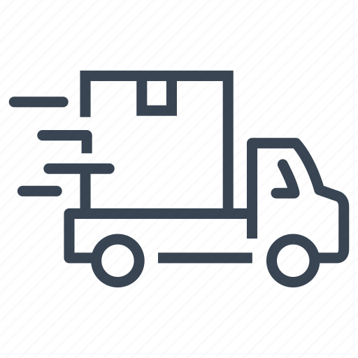 delivery, fast, logistics, shipping, truck icon