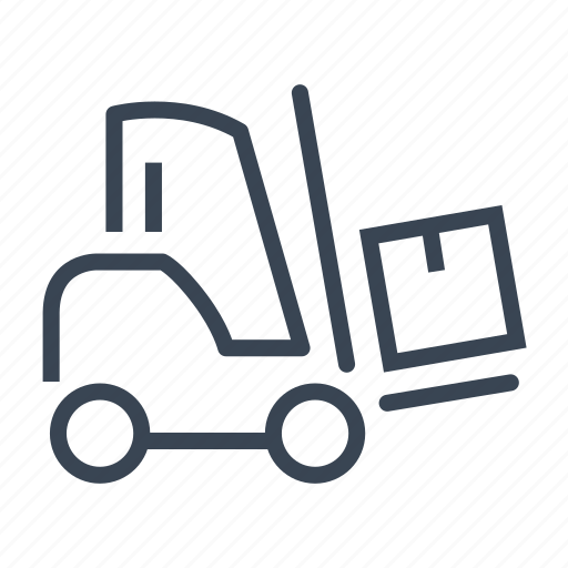 forklift, logistics, shipping icon