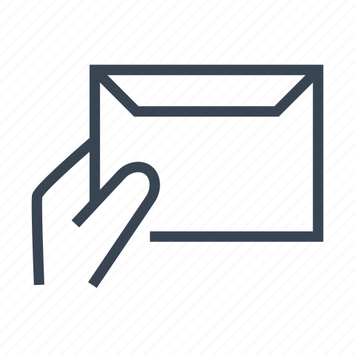 courier, delivery, hand, letter, mail, message icon