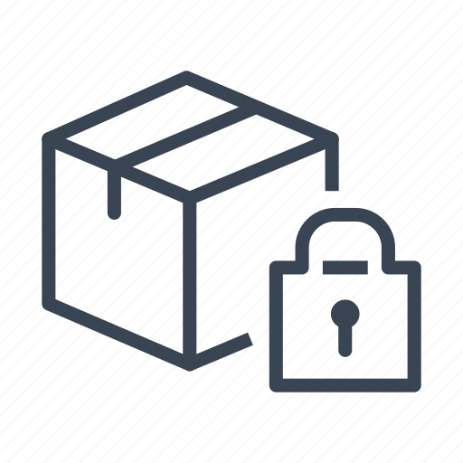 box, package, padlock, secure, security icon