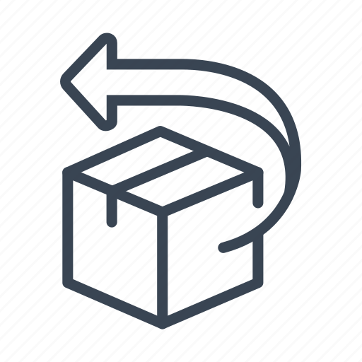 box, package, product, refused, return to sender, returned icon