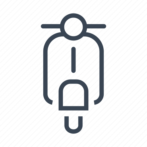 delivery, scooter, transport, vehicle icon