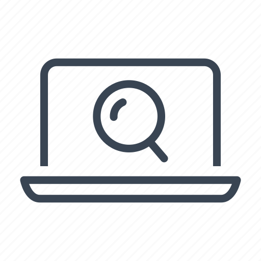 computer, logistics, online, search, tracking icon