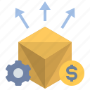 expose, distribution, delivery, parcel, post, commerce, advertisement icon