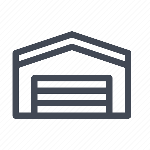 dock, garage, house, shed icon