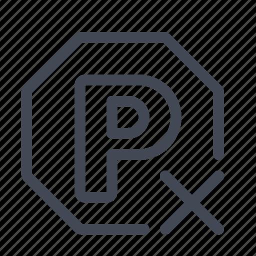 forbidden, no parking, parking icon