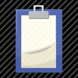 blank, cartoon, clipboard, document, empty, note, paper icon