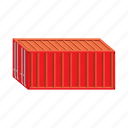 cargo, cartoon, container, export, freight, storage, transport icon