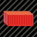 cargo, cartoon, container, export, freight, storage, transport icon