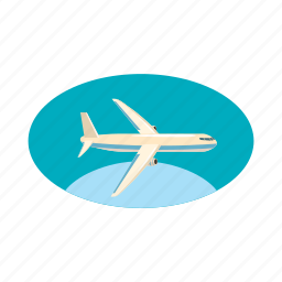 air, airplane, cargo, cartoon, plane, transport, transportation icon