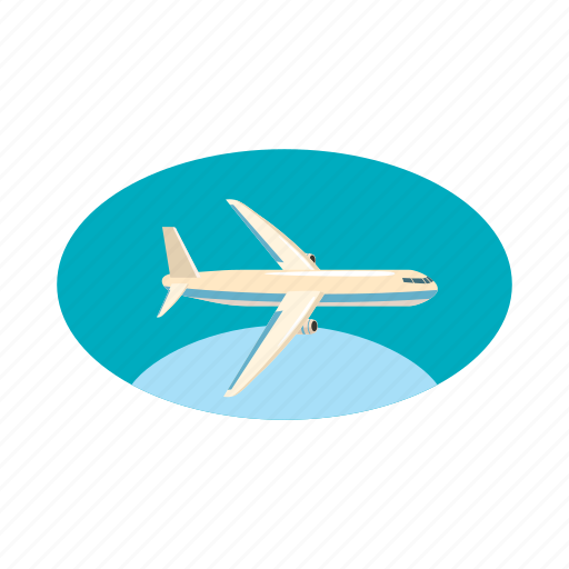 air, airplane, cargo, cartoon, plane, transport, transportation icon