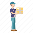 box, cardboard, cartoon, courier, delivery, package, service