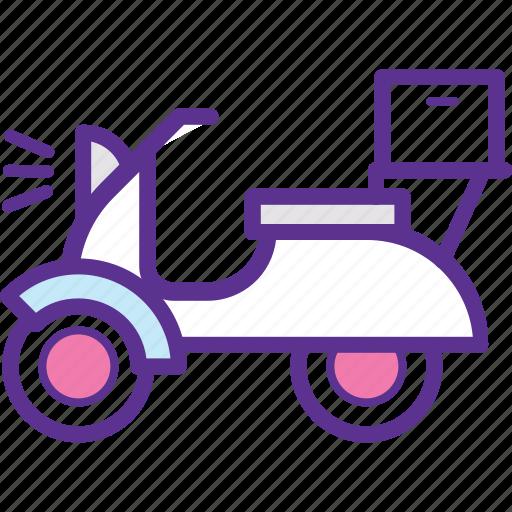 cargo bicycle, cargo bike, delivery bike, electric cargo bike, food delivery bikes icon