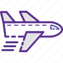aeroplane, airplane, flight, plane, traveling icon