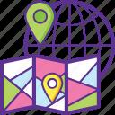 global logistics, international cargo, international deliveries, international freight, international shipment icon