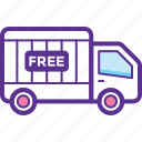 free delivery, free delivery service, free delivery truck, free shipping, free transport