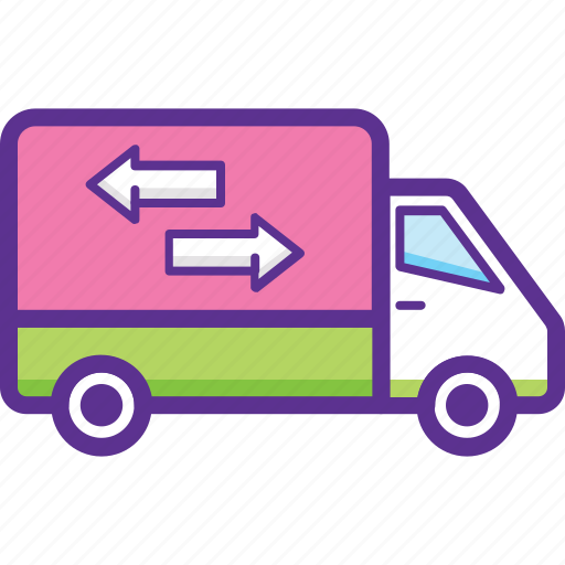 commercial vehicle, delivery van, pickup truck, shipping van, utility van icon
