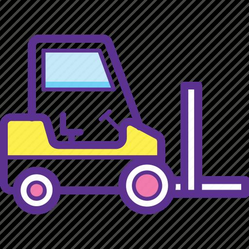 Bendi truck, fork hoist, forklift, forklift truck, lift truck icon - Download on Iconfinder