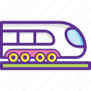bullet train, railway, train, tram, transport icon