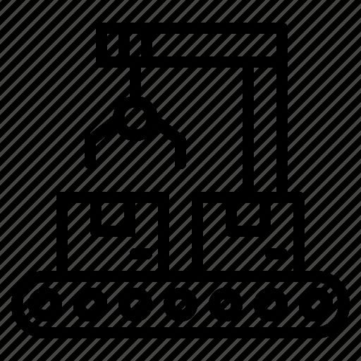 conveyor, factory, industrial, industry, logistics, machine, transport icon