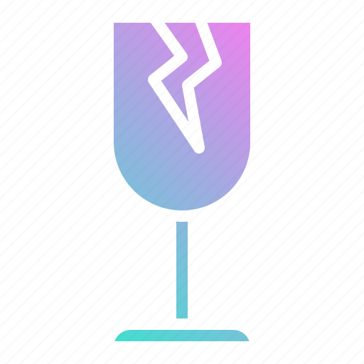 broken, delivery, fragile, glass, shipping icon