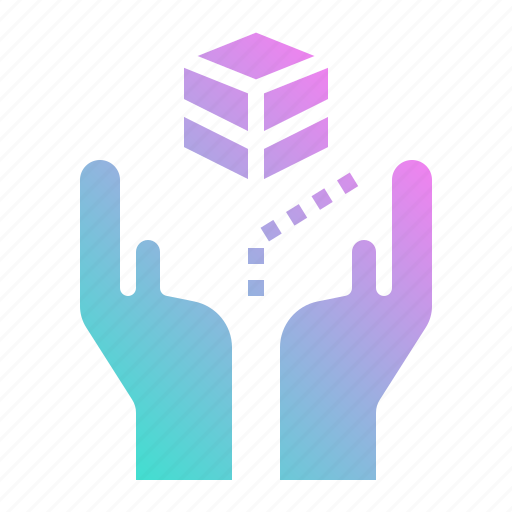 box, care, hand, handle, shipping icon