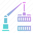 cargo, crane, delivery, shipping, transport icon