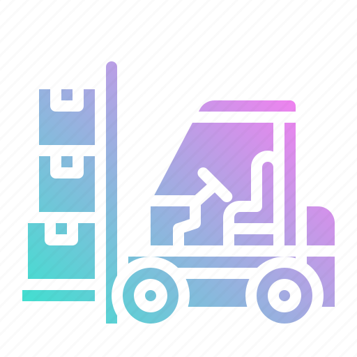 cargo, forklift, freight, load, parcel icon