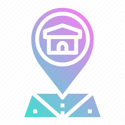 geography, location, map, pin, position icon