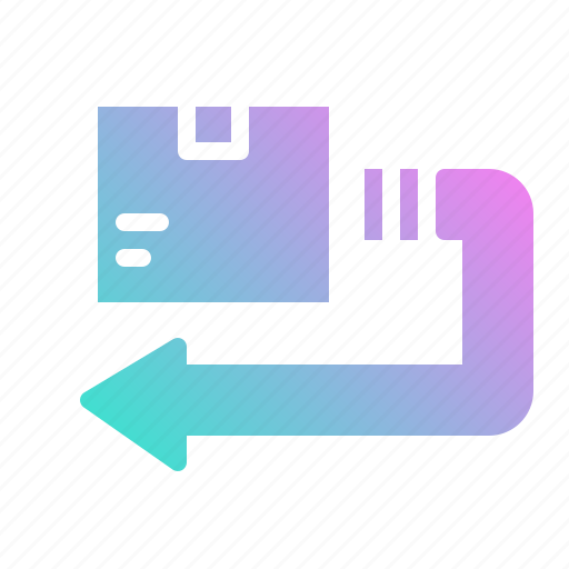 back, delivery, return, shipping icon