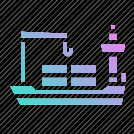 cargo, container, logistics, ship, vessel icon