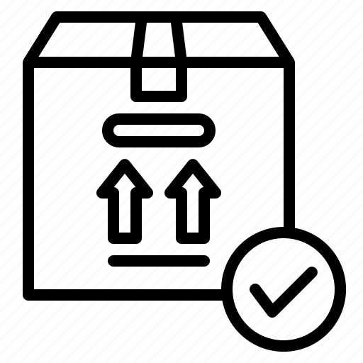 box, delivery, fragile, packaging, shipping icon