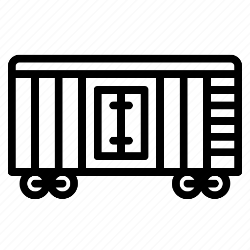 cargo, delivery, train, transport, wagon icon