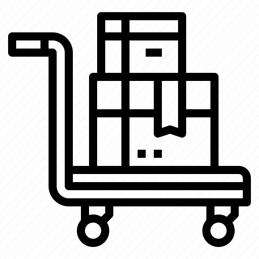 commerce, delivery, shipping, transport, trolley icon