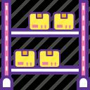 industrial storage racks, pallet rack, warehouse rack, warehouse shelving, warehouse storage shelving icon
