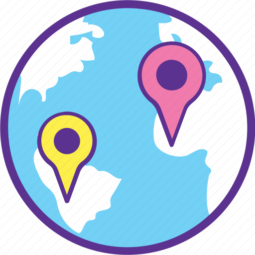Geographical distance, geolocation, global positioning system, gps, route planning icon - Download on Iconfinder